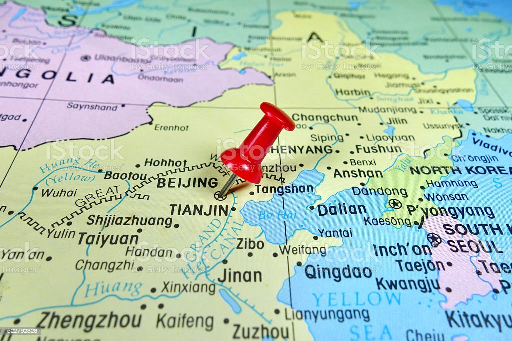 Pushpin marking on beijing map stock photo more pictures of asia pushpin marking on beijing china map royalty free stock photo gumiabroncs Gallery