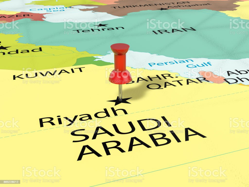 Pushpin On Riyadh Map Stock Photo More Pictures of Asia iStock