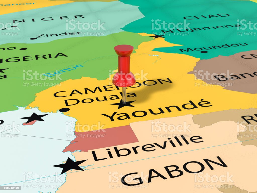 Pushpin On Yaounde Map Stock Photo More Pictures of Africa iStock