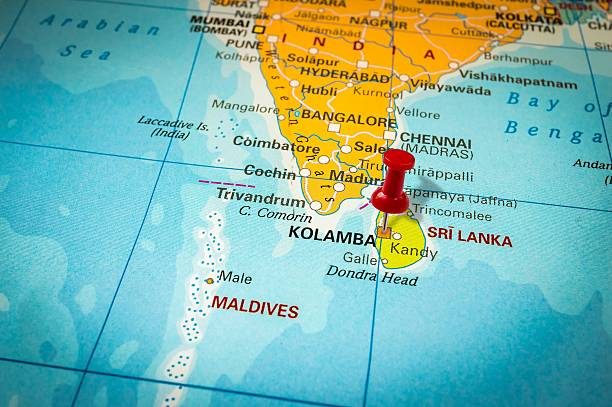 Best Sri Lanka Map Stock Photos, Pictures & Royalty-Free Images - iStock