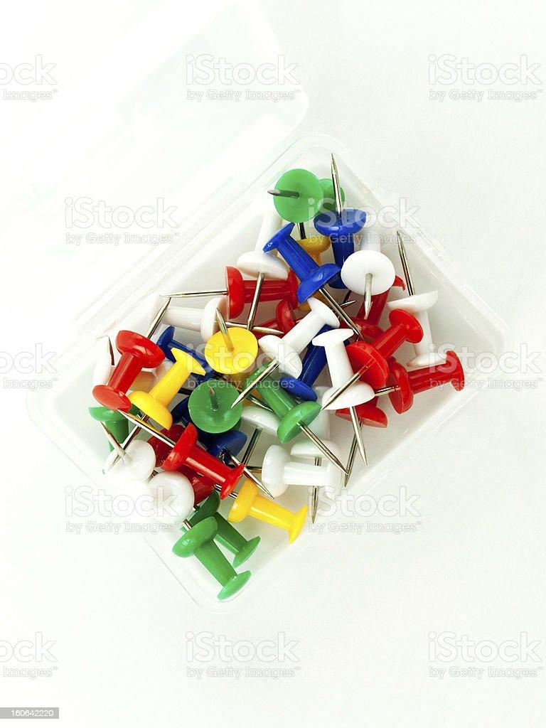 Pushpins royalty-free stock photo