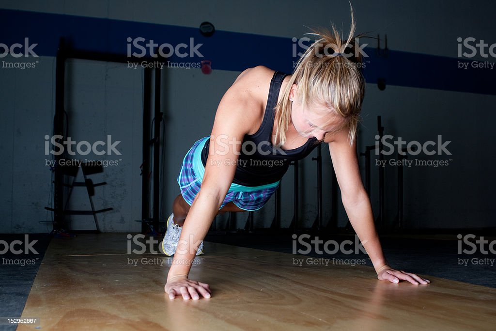 Pushups royalty-free stock photo