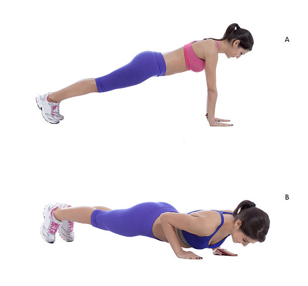 push-ups - push up stock photos and pictures