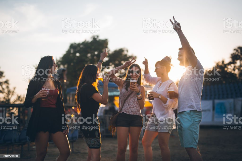 Put a hands up in the air stock photo