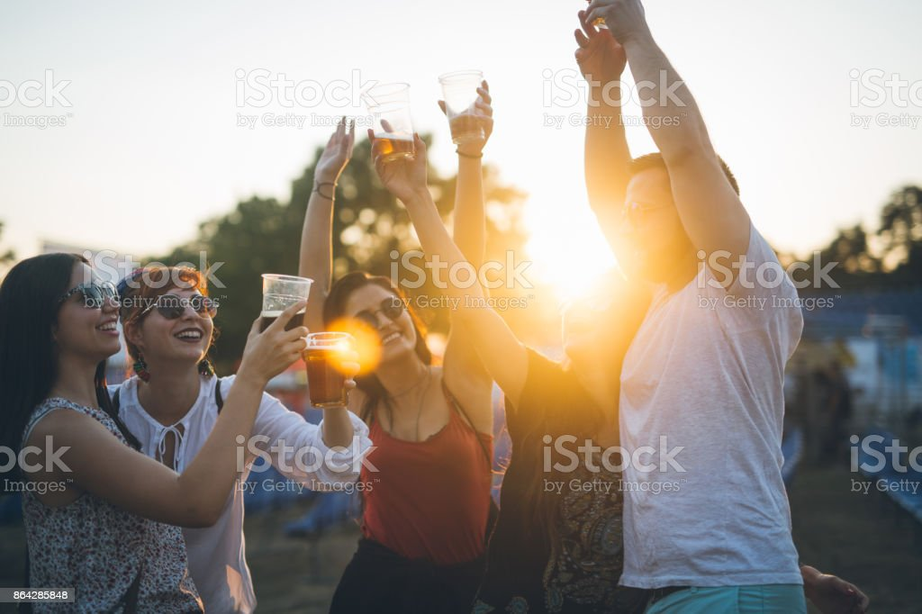 Put a hands up in the air royalty-free stock photo