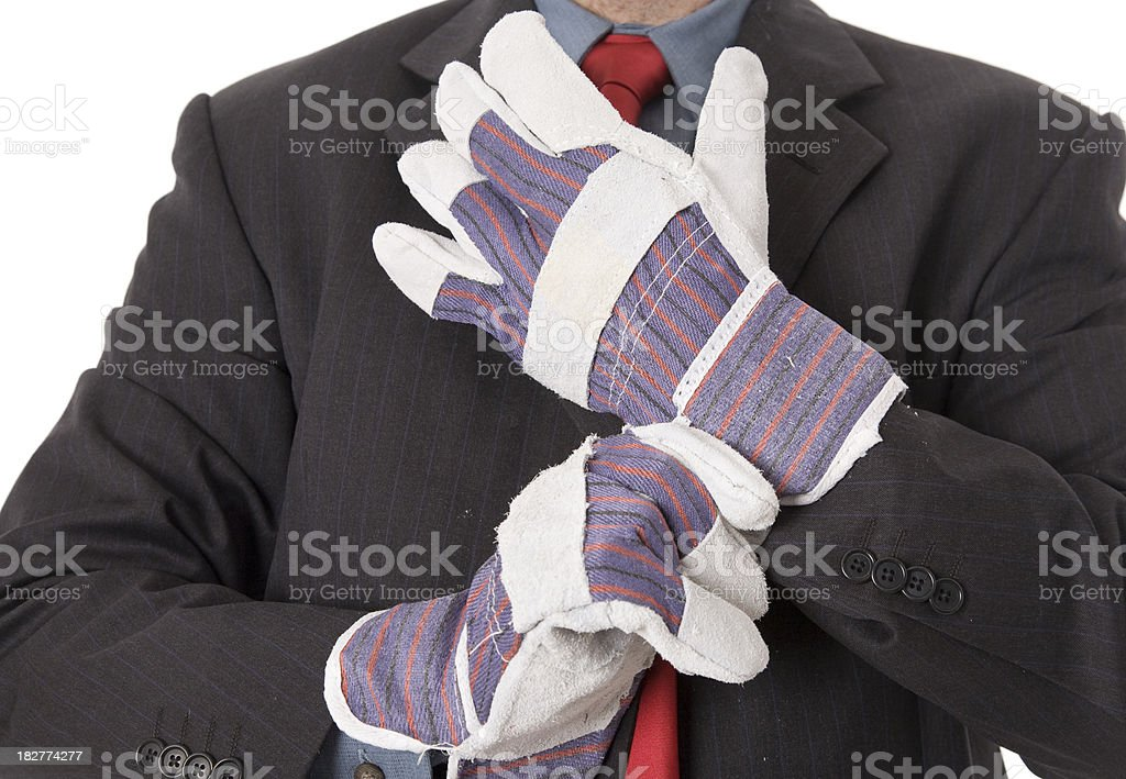 Put Gloves On royalty-free stock photo