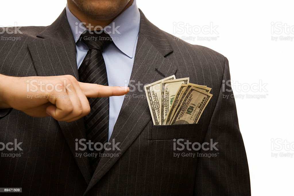 Put money in your pocket royalty-free stock photo