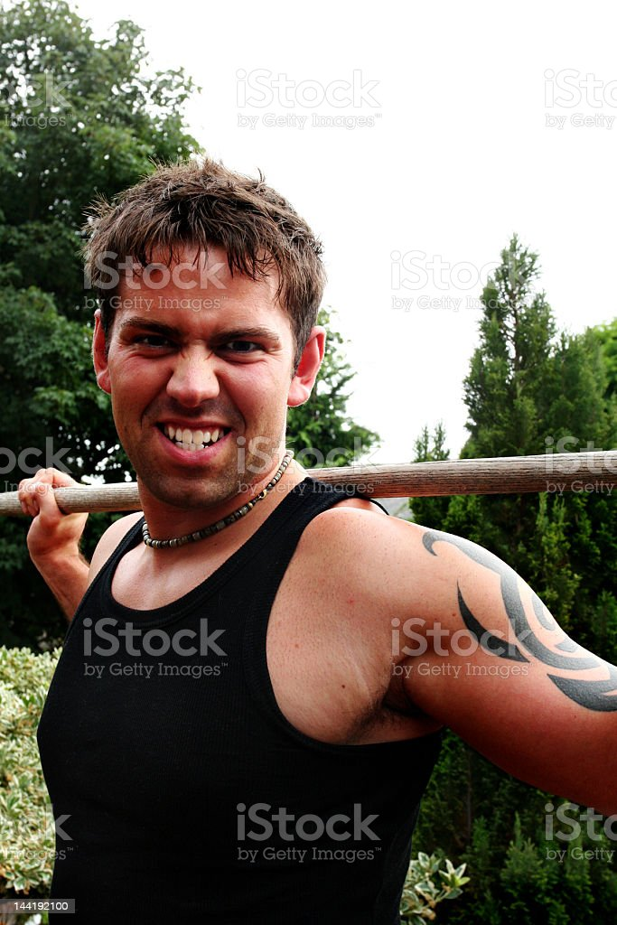 Put The GRrrr in Gardening royalty-free stock photo