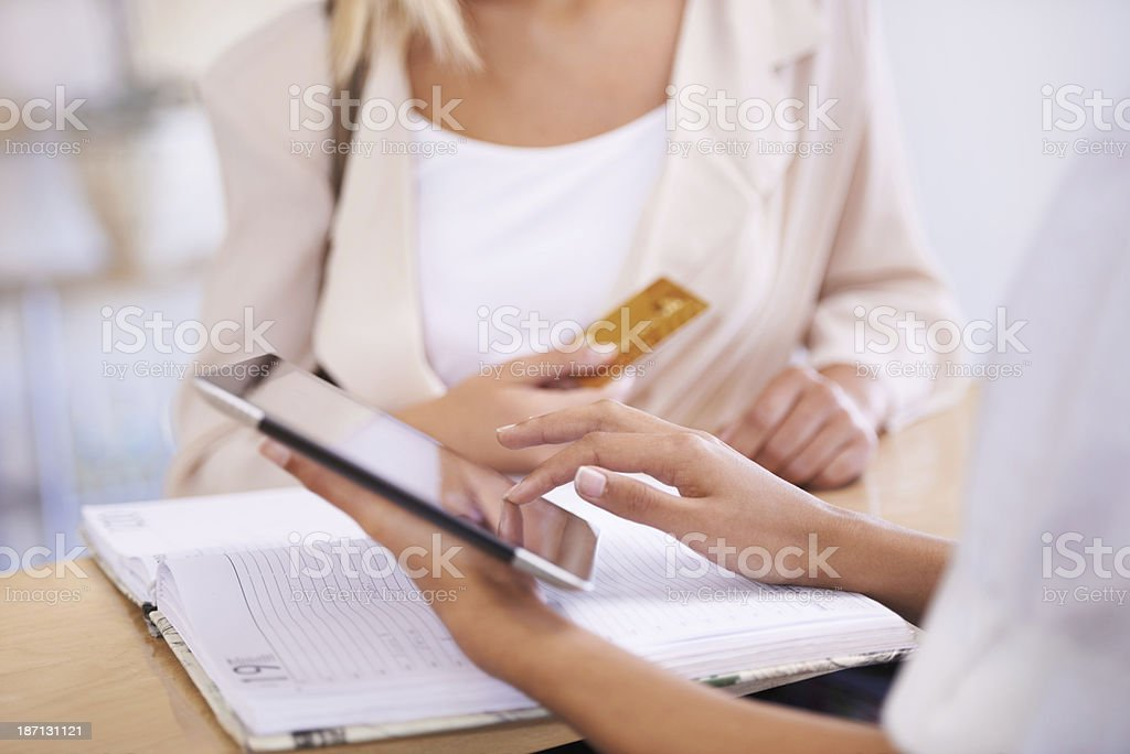 Put the room charges on my card royalty-free stock photo