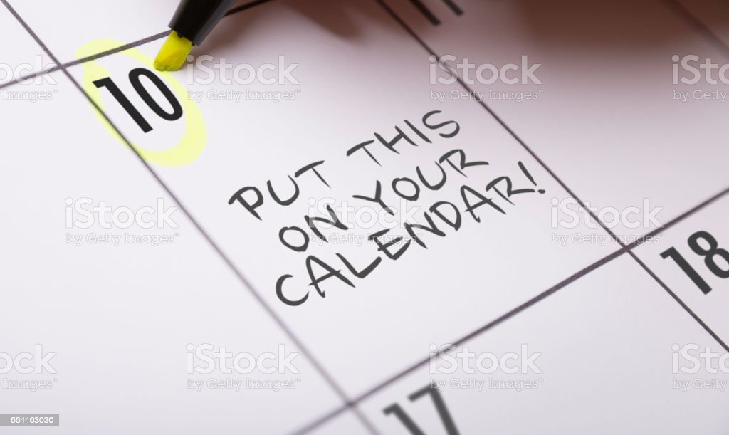 Put This on Your Calendar! stock photo