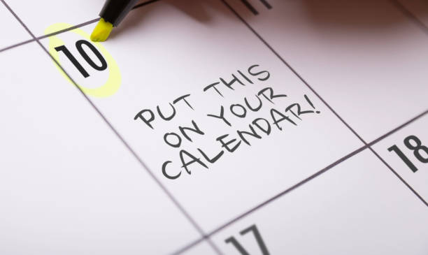 put this on your calendar! - calendar date stock photos and pictures