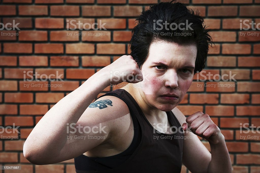 Put up your dukes royalty-free stock photo