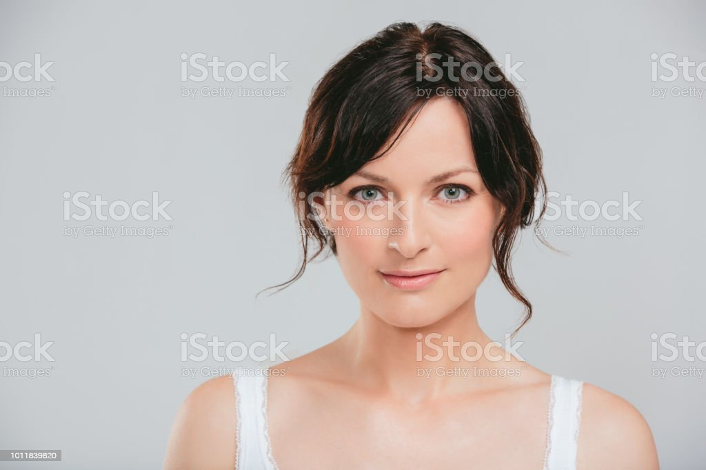 Put your best face forward stock photo