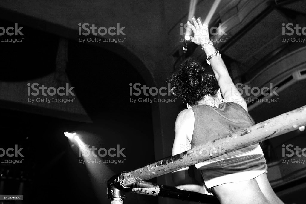 put your hands in the air and dance royalty-free stock photo