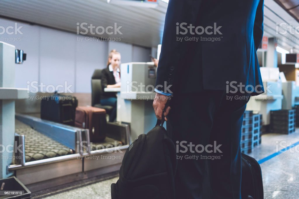 Put your luggage here sir stock photo