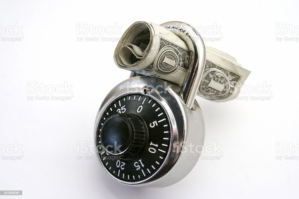 Put your money in a bank stock photo