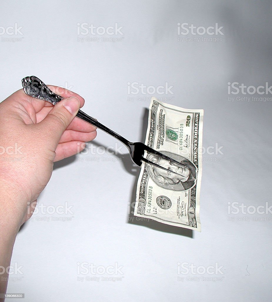 put your money where your mouth is royalty-free stock photo