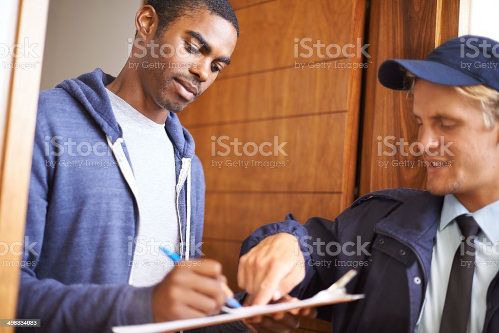 Put your name right here stock photo
