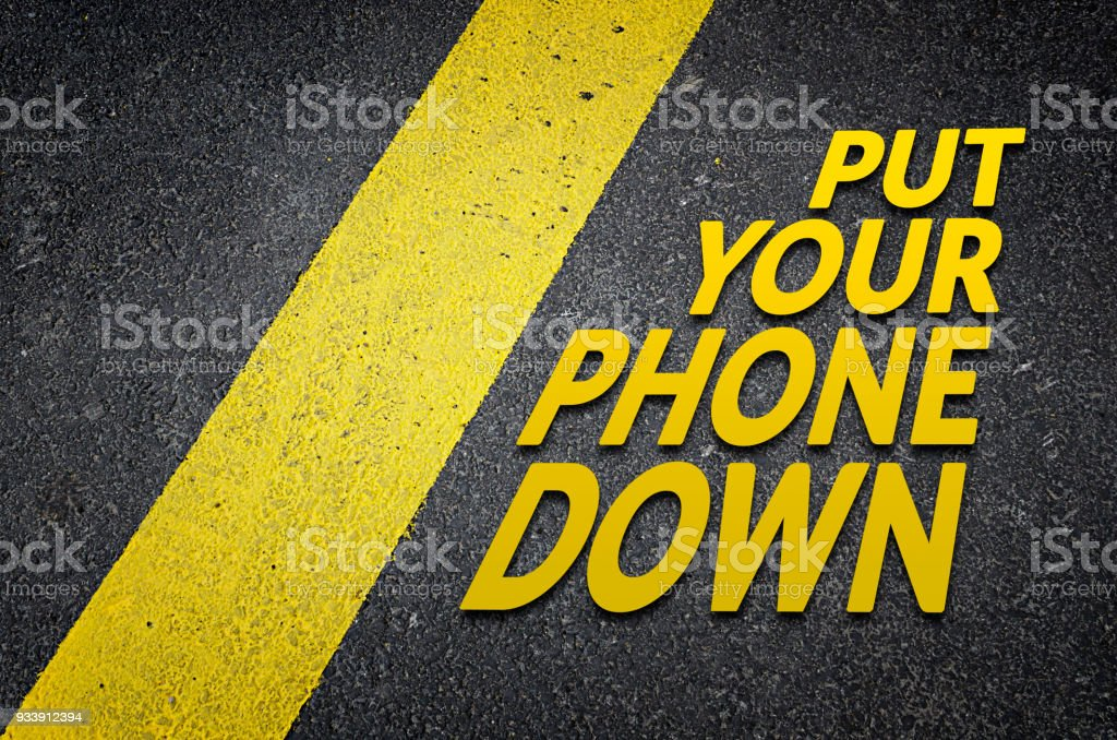 Put your phone down stock photo