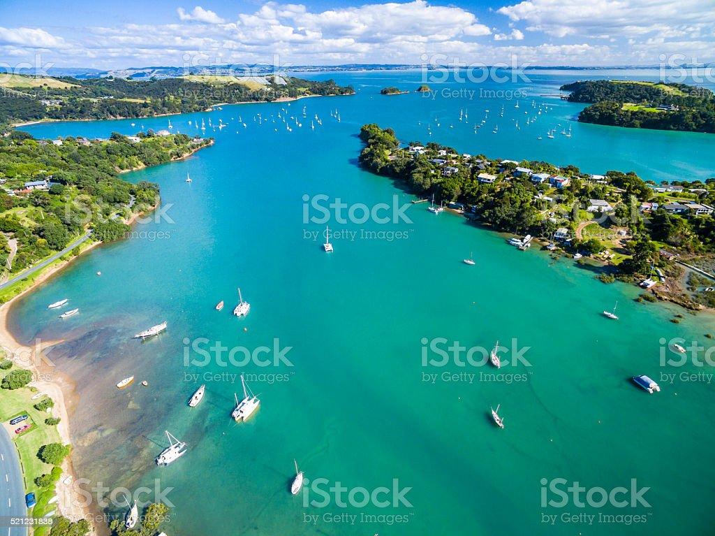Putaki Bay stock photo