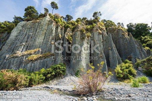 Putangirua Pinnacles near Palliser bay, south Wairarapa, New Zealand