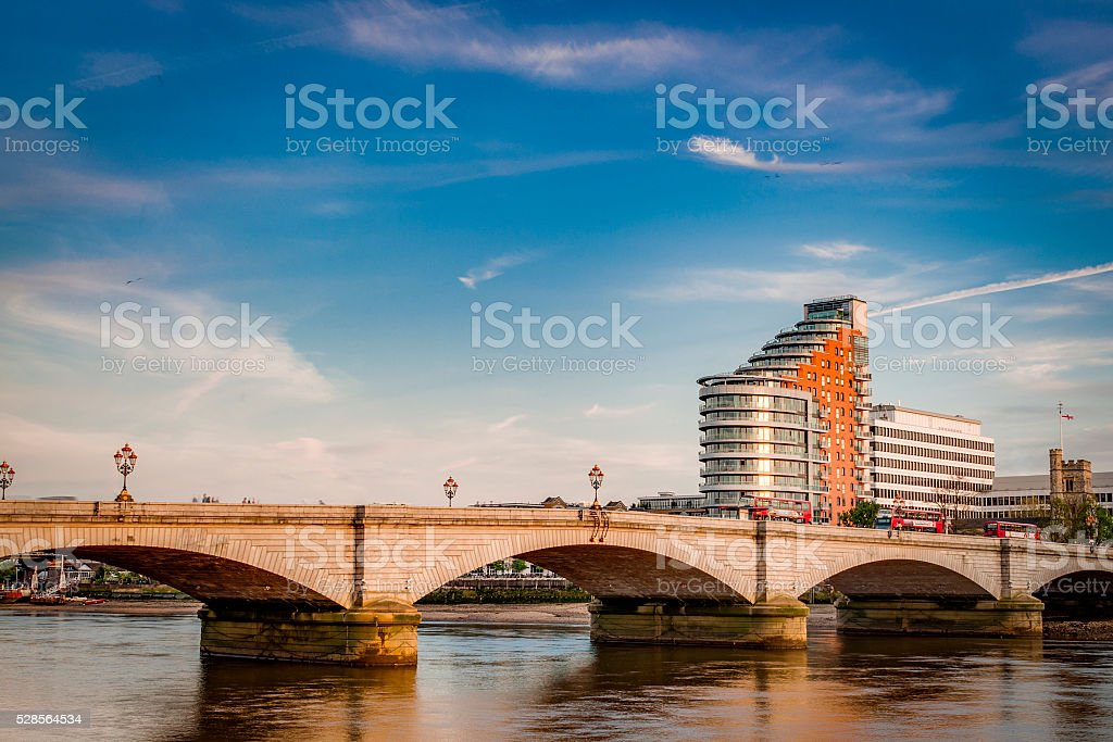 Putney bridge during day time stock photo