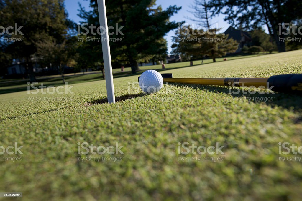 putter and ball royalty-free stock photo