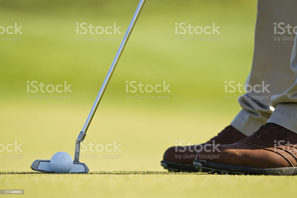 Putter Next to Golf Ball royalty-free stock photo