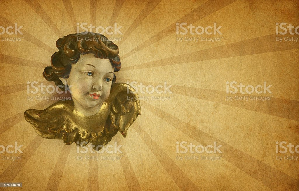 putti on old paper royalty-free stock photo