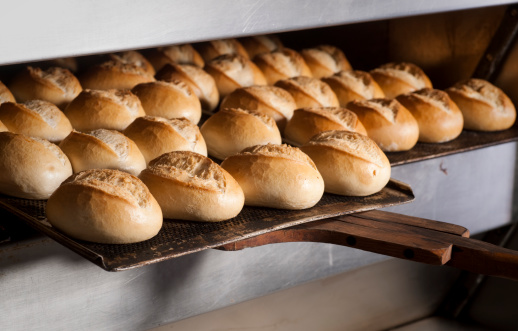 Baking fresh bread in bakeryMore photos from bakery and cakes: