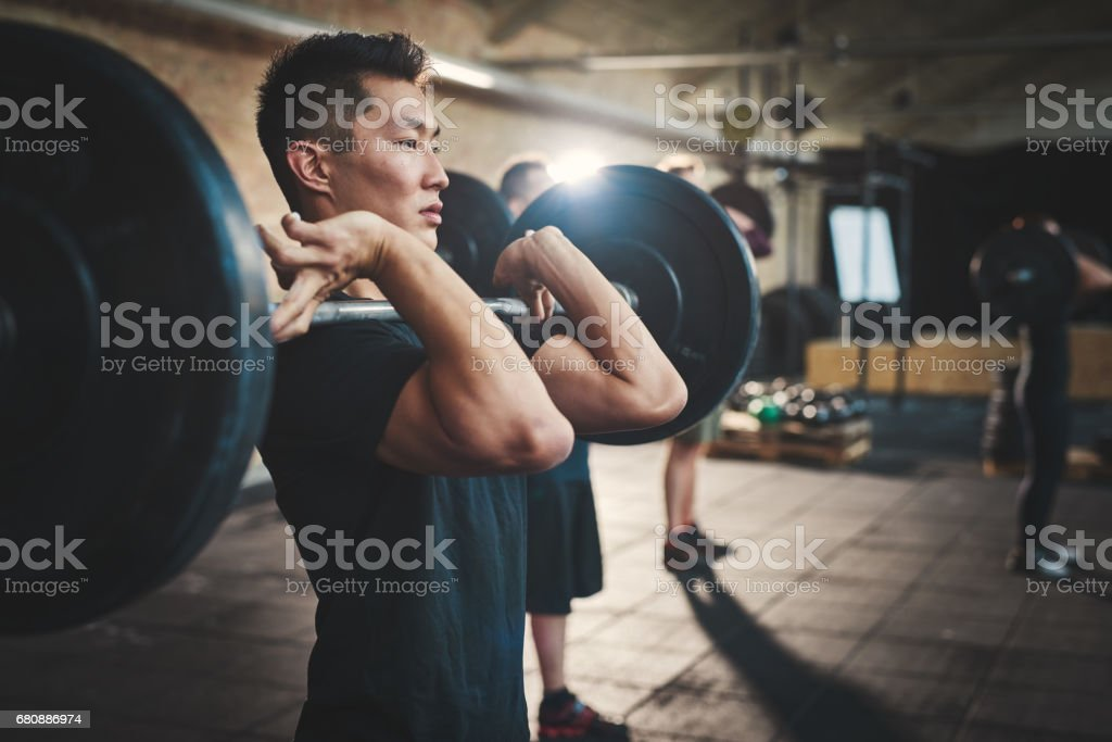 Putting everything into the lift stock photo