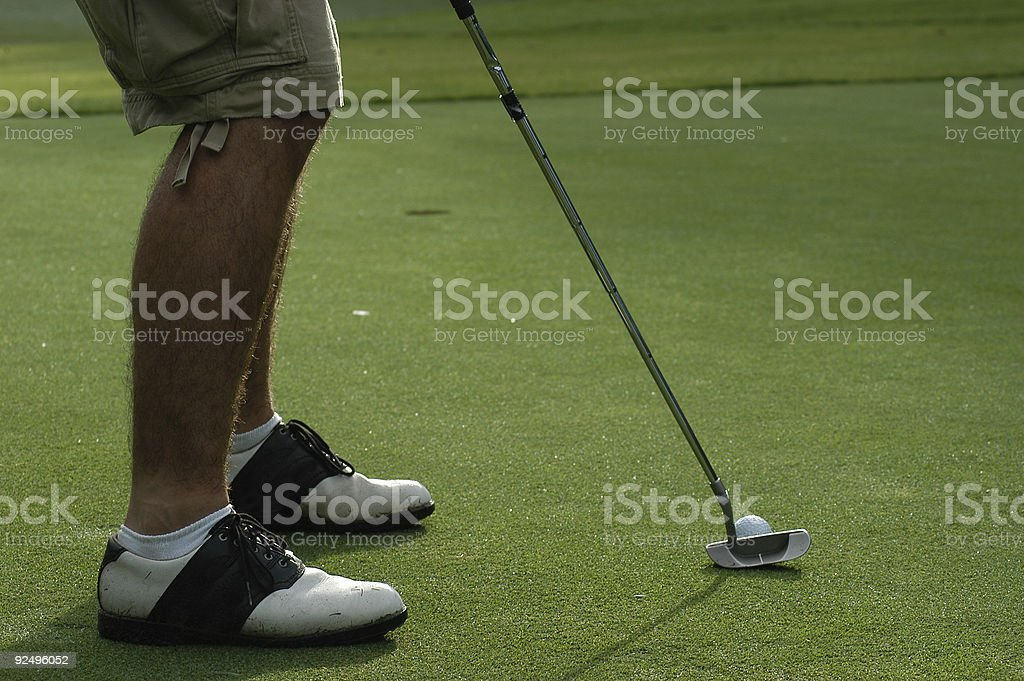 Putting for birdie royalty-free stock photo