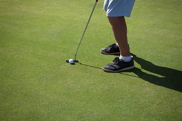 Putting golf. stock photo