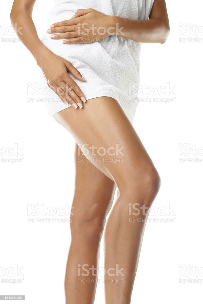 Putting her best leg forward royalty-free stock photo