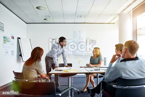 istock Putting his ideas on the table 643625452