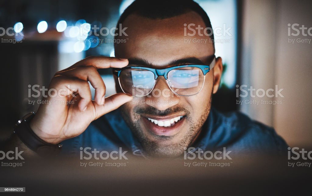 Putting in some overtime royalty-free stock photo