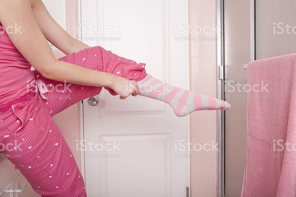 Putting auf Socken – Foto