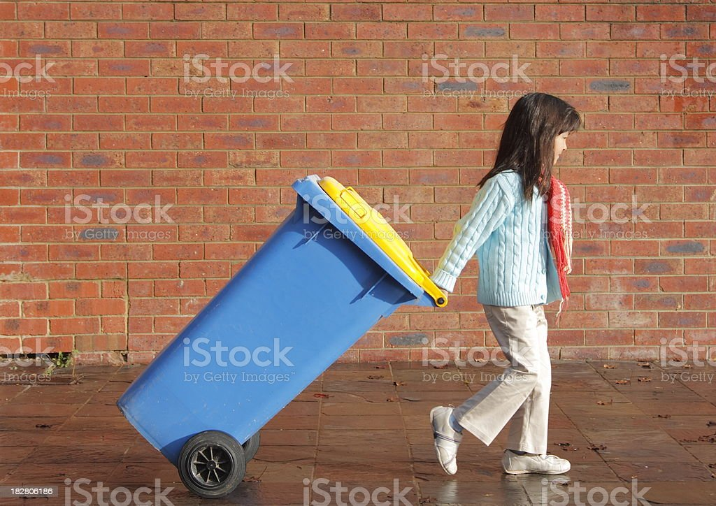 Putting out the Bin royalty-free stock photo
