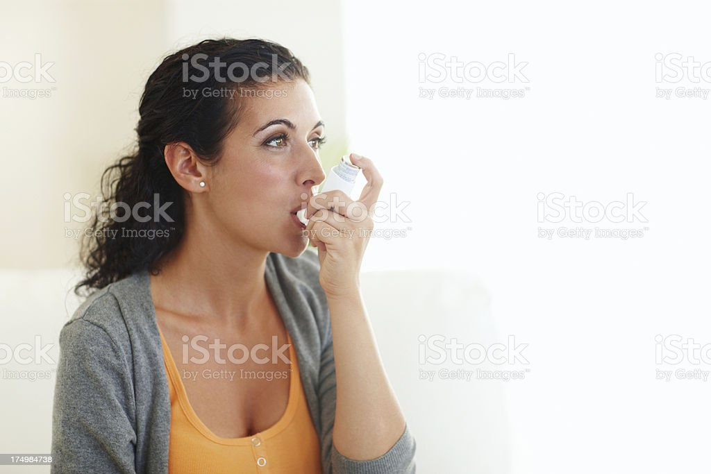 Putting the air back in my lungs stock photo