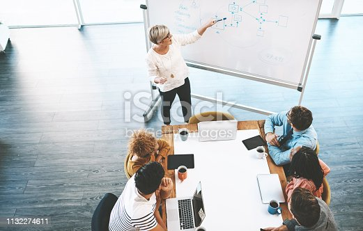 Shot of a group of young businesspeople having a meeting in a modern office