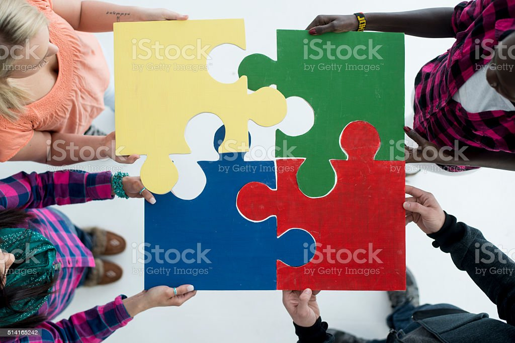 Putting the Pieces Together stock photo