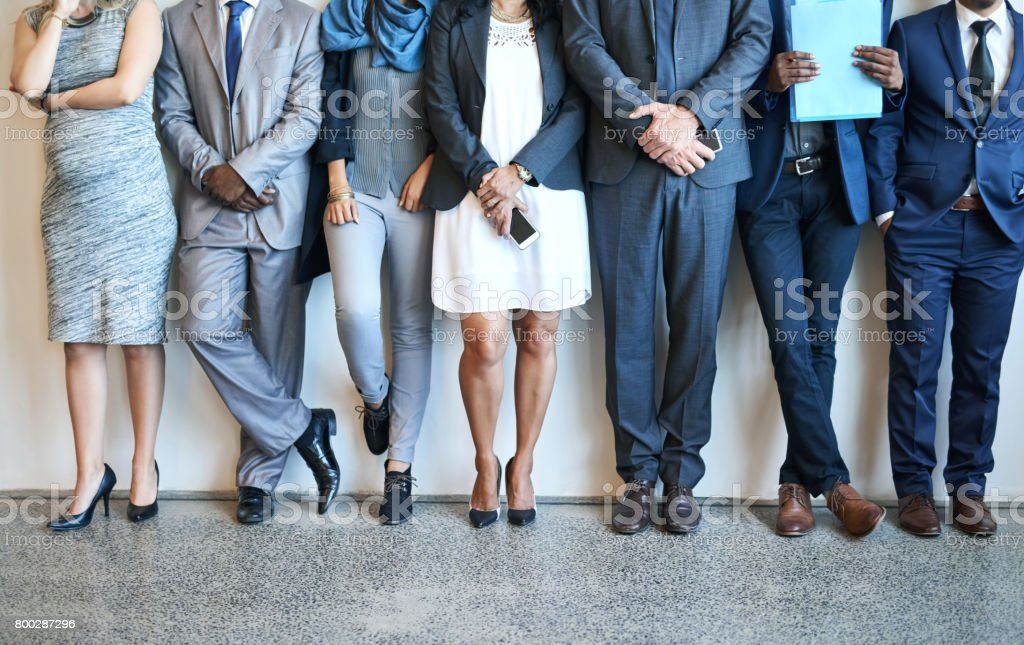Putting their best foot forward stock photo
