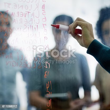 istock Putting their ideas where they can see them 611068012