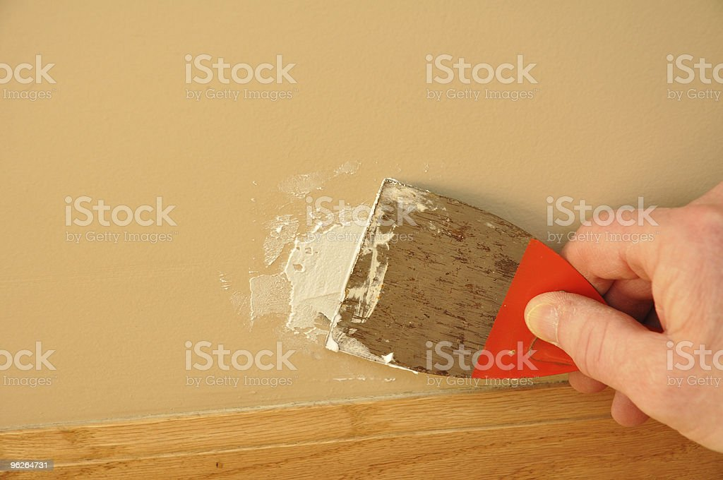Putty Knife with Spackling Paste stock photo
