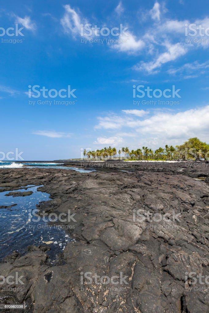 puuhonua o honaunau national historic park stock photo