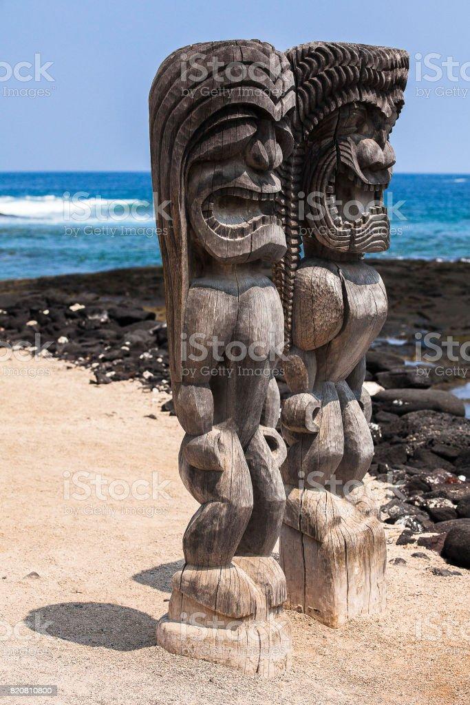 Pu'Uhonua o Honaunau National Historical Park Big Island Hawaii stock photo