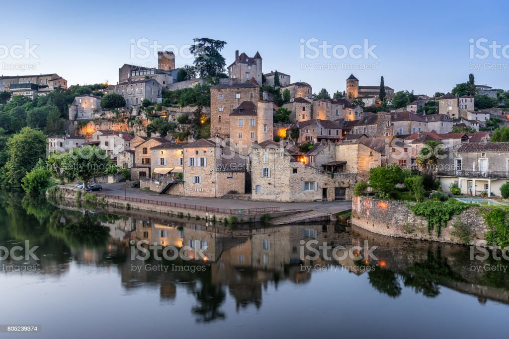 Puy L Eveque stock photo
