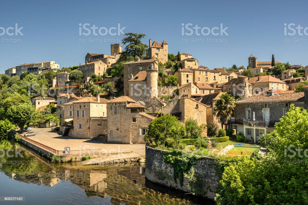 Puy L'Eveque stock photo