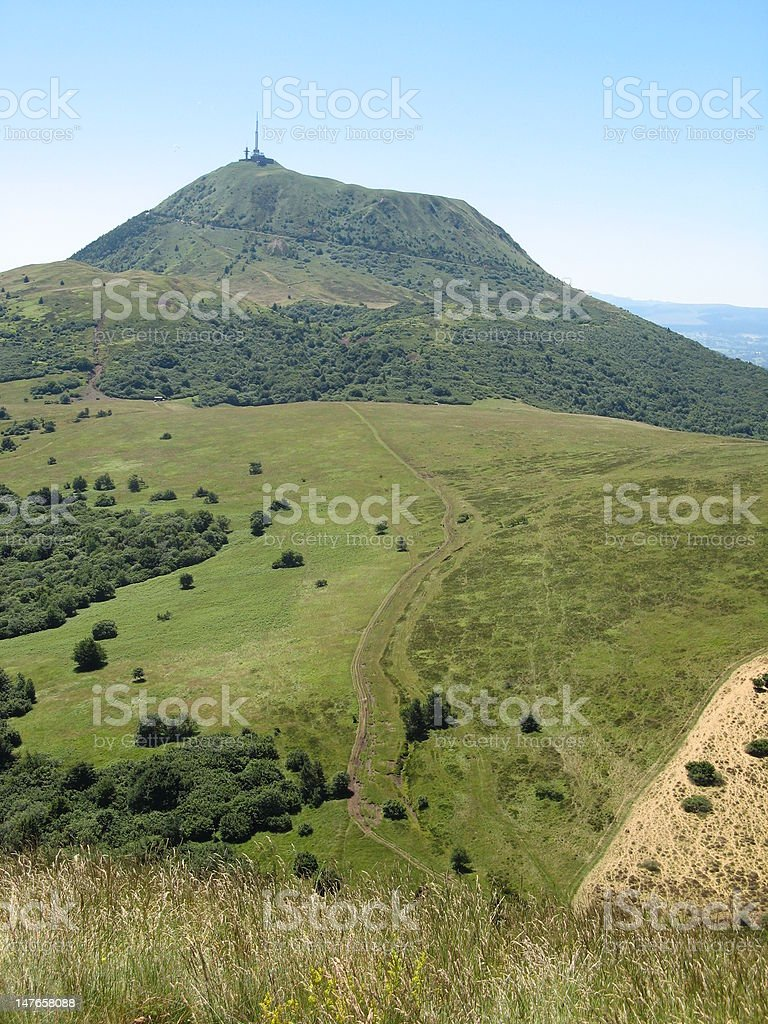 Puy-de-Dôme - Volcans d'auvergne stock photo