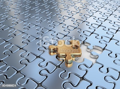 istock Puzzle 3D. Innovate, differentiate business background 504986624